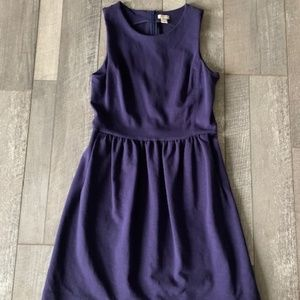 Casual Blue A-line Dress with pockets!